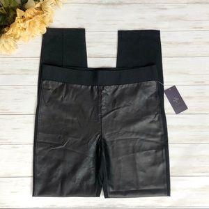 NYDJ Black Faux Leather Ponte Knit Leggings